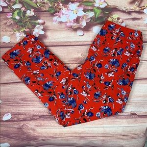 Cynthia Rowley Bright Floral Ankle Pants 1320JO2